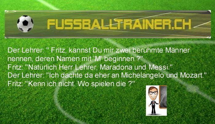 Fussballtrainer Ch Witze